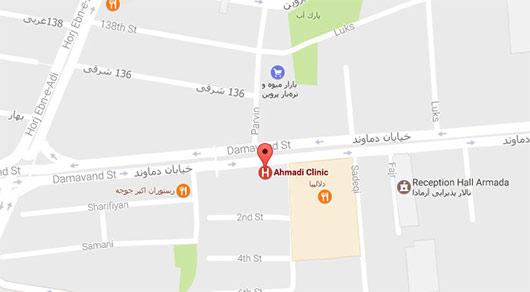 آدرس آزمایشگاه احمدی