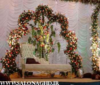تزیین جایگاه عروس و داماد-تصاویر جایگاه عروس و داماد