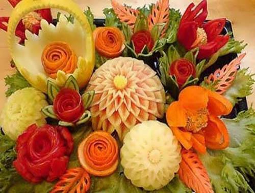 میوه آرایی و تزئین میوه-تزیینات عقد و سفره عقد