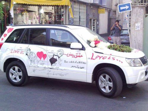گل آرایی ماشین عروس - تزئینات عقد و عروسی