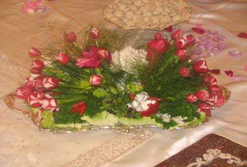 تزئینات عقد و عروسی- تزئین سفره عقد