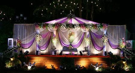 تزیین جایگاه عروس